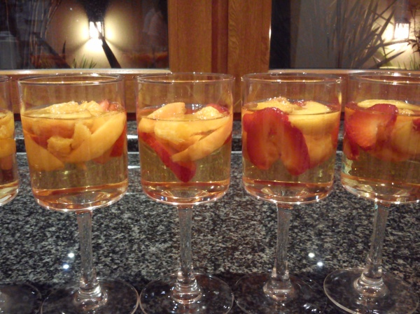 Champagne and Fruit Cups
