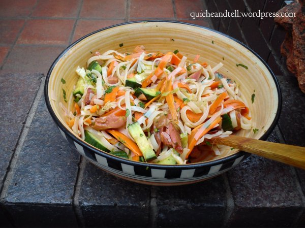 Vietnamese Chicken and Rice Noodle Salad