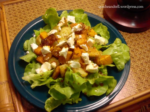 Roasted Butternut Squash and Feta Salad