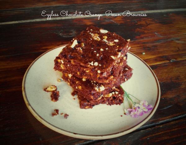 Eggless Chocolate Orange Pecan Brownies
