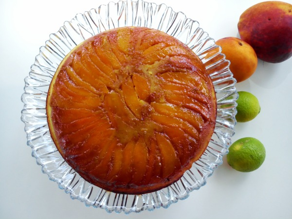 Mango Upside Down Cake With Lime Syrup